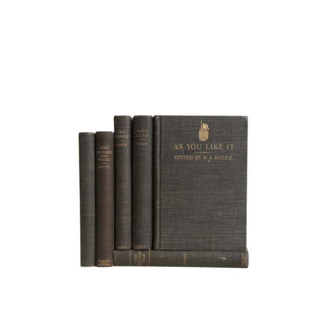 Vintage Decorative Book Gift Set: Shakespeare in Charcoal For Sale - Image 4 of 5