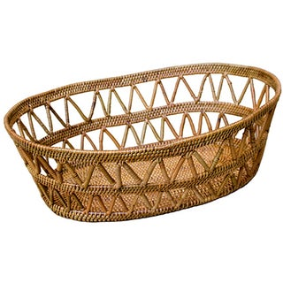 Hand Woven Basket With Open Design For Sale