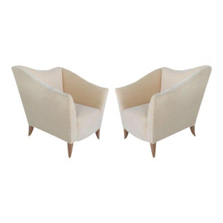 Sculptural Upholstered Club Chairs From Donghia-APair For Sale