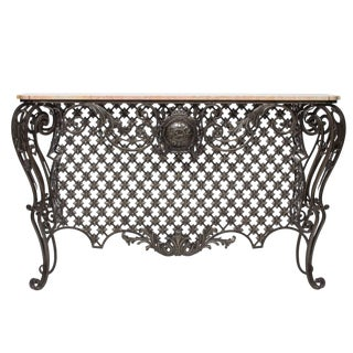 1930s French Iron Console For Sale