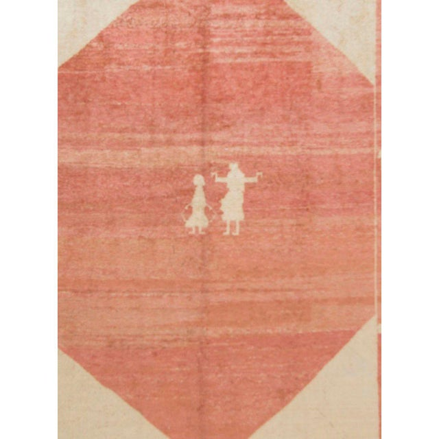 "Modern Gabbeh Hand-Knotted Rug - 5'3"" X 7'1"" For Sale - Image 3 of 5"