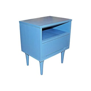 Mid-Century Modern Blue Side Table For Sale