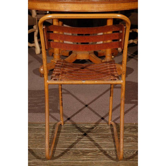 Painted Bakelite Slat Stacking Chairs, England, circa 1940 For Sale - Image 10 of 11