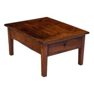 Antique French Walnut Coffee Table For Sale