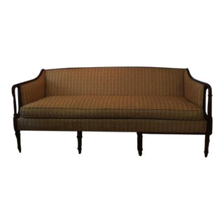 Vintage Ethan Allen Antique Style Sheraton Sofa For Sale