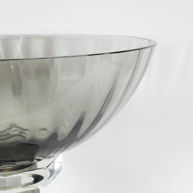 Distinguished Murano Glass Modernist Bowl Or Vase In Handblown