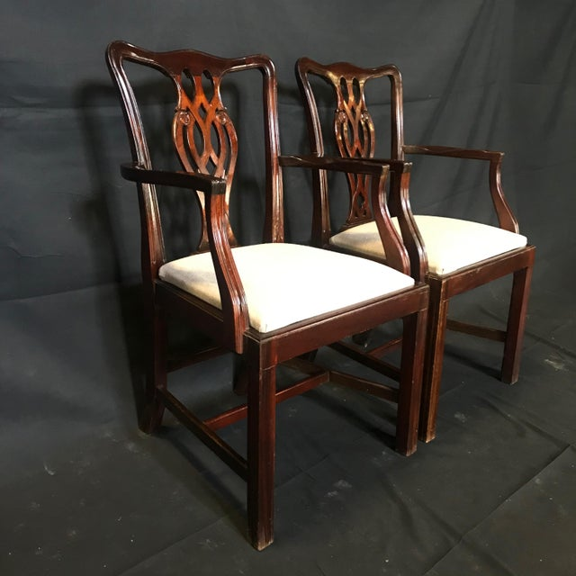 19th Century Antique English Mahogany Chippendale Style Dining Chairs-Set of 6 For Sale In Portland, ME - Image 6 of 13