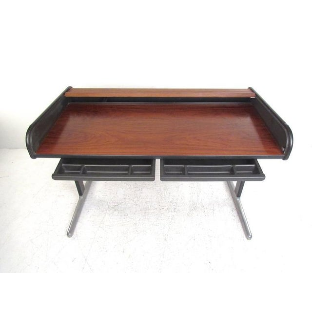 George Nelson for Herman Miller Mid-Century Tambour Roll-Top Desk - Image 2 of 9