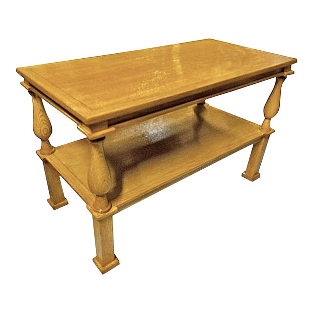 Andre Arbus Genuine Documented Neoclassical Blond Oak Coffee Table For Sale