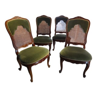 1990s Vintage French Style Dining Chairs- Set of 4 For Sale