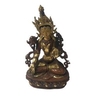 Buddhist Tara Goddess Of Cast Brass