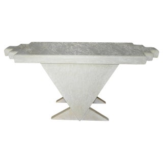 Geometric Memphis Style Plaster Console Table For Sale