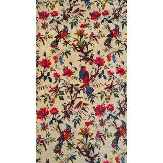 3 Yards Hand Block Printed Cotton Velvet For Sale