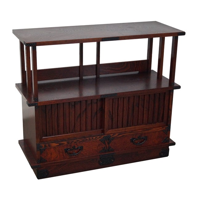 Chinese Arts & Crafts Red Elm Wood Narrow Console For Sale