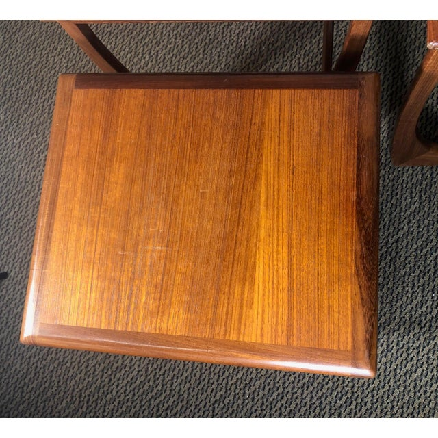 Mid 20th Century Mid Century Teak Nesting Side Table Set by G Plan For Sale - Image 5 of 10