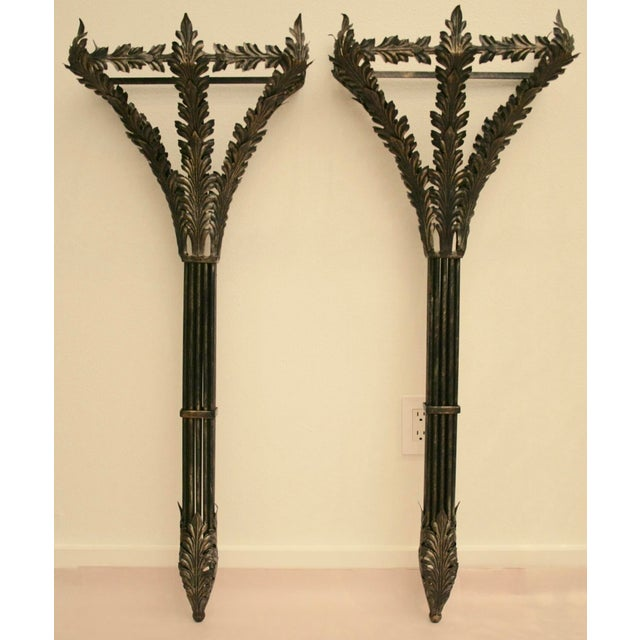 """44"""" Tall Metal Wall-Hung Sconces - Image 2 of 9"""