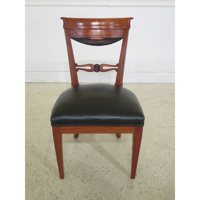1940s Vintage Biedermeier Style Cherry Side Chair For Sale - Image 10 of 10