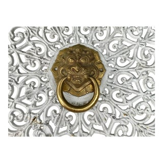 Vintage Brass Foo Dog Door Knocker For Sale