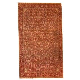Antique Indian Amritsar Rug - 7′ × 9′8″ For Sale