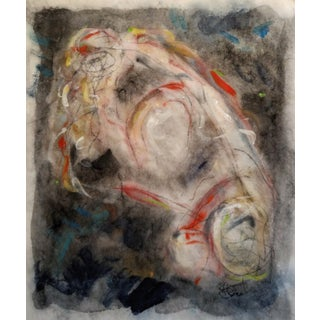 """""""Woman Washing Her Hair"""" Abstract Figurative Painting For Sale"""