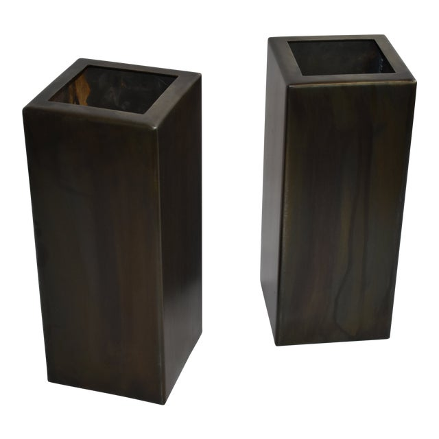 Antic Steel Boxes - A Pair For Sale