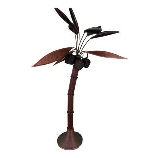Mario Lopez Torres Rattan Palm Tree Floor Lamp For Sale