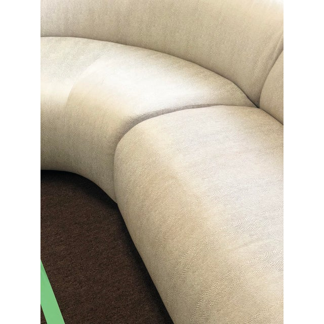 1990s Vintage Vladimir Kagan Curved Sectional Sofa For Sale - Image 10 of 13