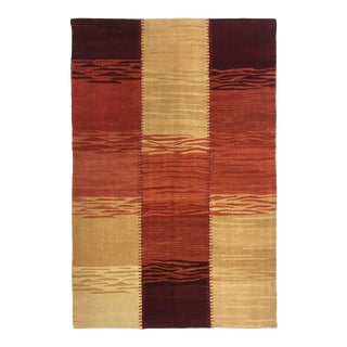 2'7 X 3'11 Modern Patchwork Kilim | Ombre Flatweave Rug