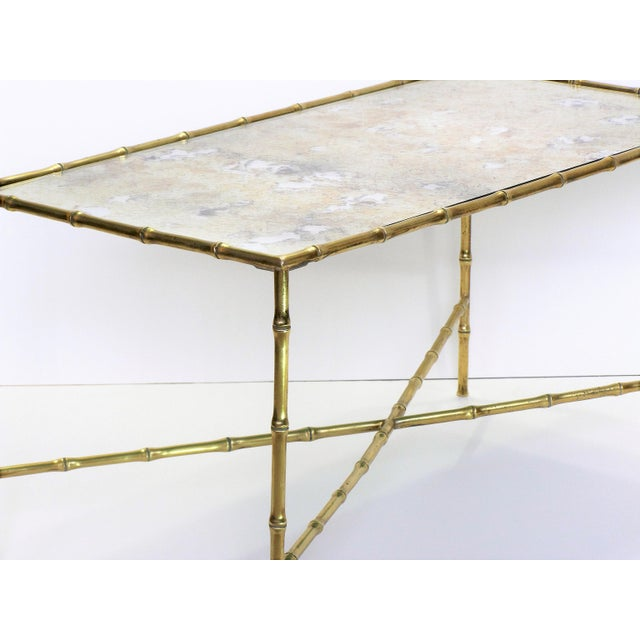 Maison Bagues French Brass Bamboo Coffee Table - Image 7 of 11