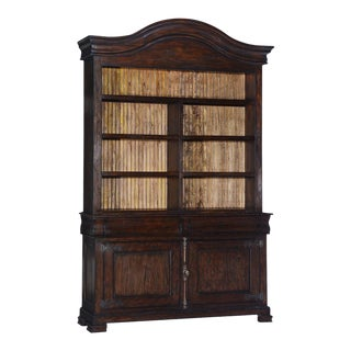 Hutch Dark Rustic Pecan Solid Wood Fitted Bead For Sale