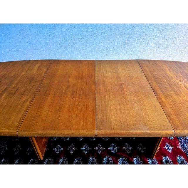 "1970s 1970s Danish Modern 110"" Teak Dining Table For Sale - Image 5 of 13"