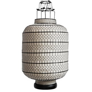Cylinder Heibe Wire Lantern Large For Sale