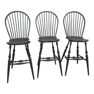 Lawrence Krouse Tavern Stools - Set of 3 For Sale
