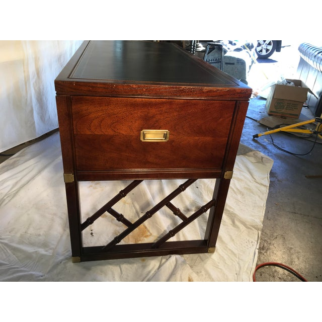 Animal Skin Sligh Furniture Campaign Style Desk For Sale - Image 7 of 9