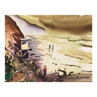 'Torrey Pines Beach, San Diego' by Edwin Adamson, Carmel Art Association For Sale