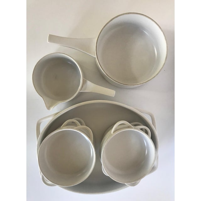 Vintage Mid Century Modern White Ribbed Cordalite Cookware Set - 9 Pieces For Sale In Austin - Image 6 of 11