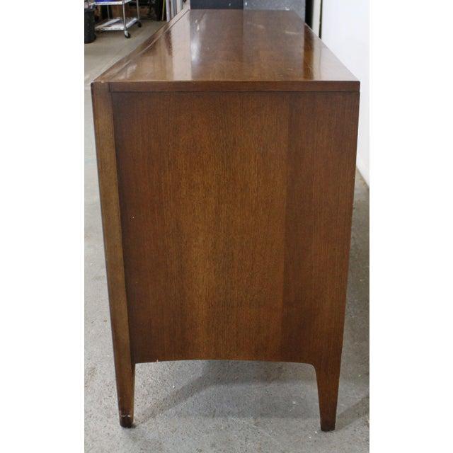 Wood Mid-Century Danish Modern Broyhill Emphasis Walnut Credenza Dresser For Sale - Image 7 of 13