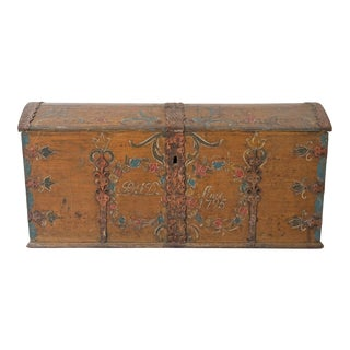 Swedish Gustavian Marriage Chest Dated 1795 For Sale