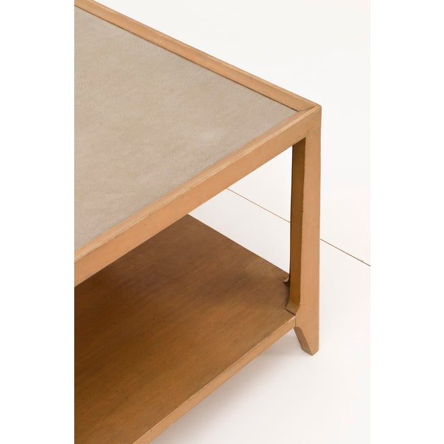 Drexel Edward Wormley Leather Top Coffee Table For Sale - Image 4 of 7