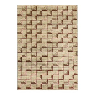 "Contemporary Hand Woven Rug 4'1"" X 5'9"" For Sale"