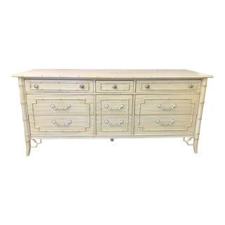 Thomasville Allegro Faux Bamboo Dresser Console For Sale