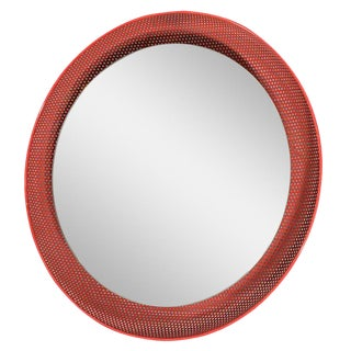 1960s Red Painted Italian Mirror For Sale