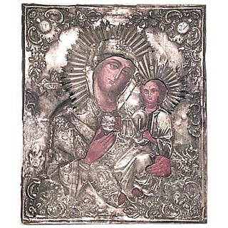 19th Century Russian Silver Religious Icon Plaque For Sale
