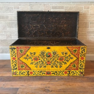 Vintage Bohemian Maitland Smith Hand Painted Chinese Trunk Preview