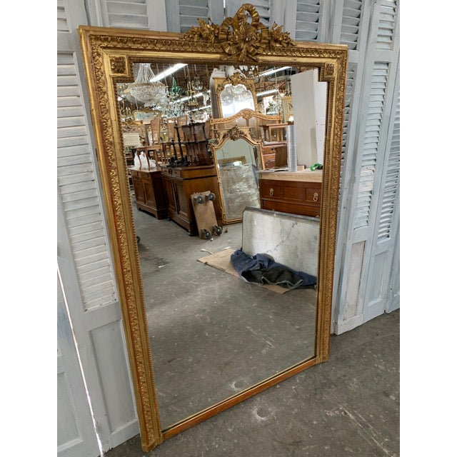 18th Century French Napoleon III Period Mirror For Sale - Image 4 of 6