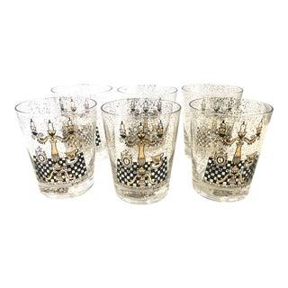 Vintage Georges Briard Cocktail Glasses - Set of 6