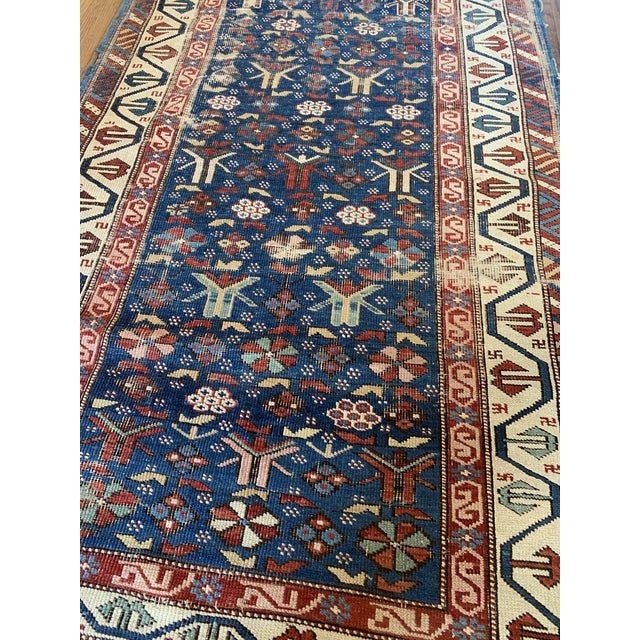 Vintage Hand Knotted Rug- 3'2 X 5'7 For Sale - Image 4 of 6