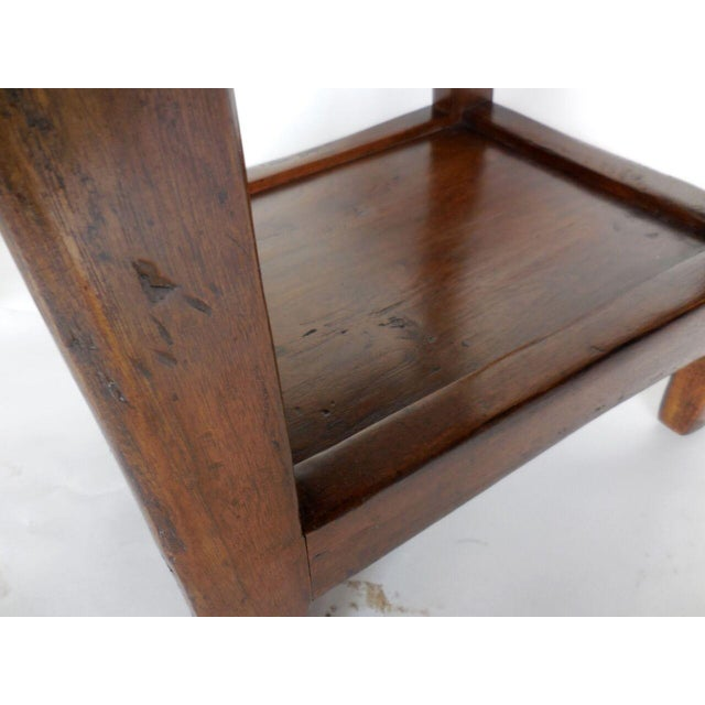 Pair of Custom Walnut Side Tables or Nightstands with Drawer and Shelf - Image 5 of 5