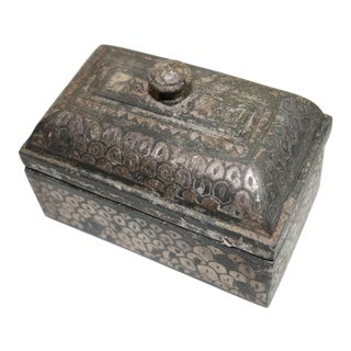 Antique 19th Century Betel Nut Dowry Box From Rajasthan, India For Sale