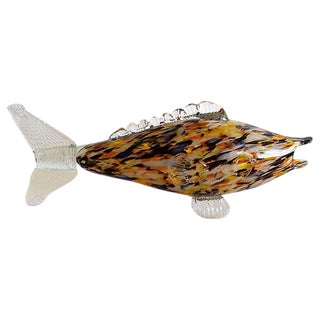 Mid-Century Glass Murano Fish